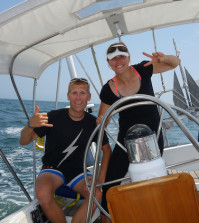033 - Mia and Andy sailing from Lunenburg to Annapolis 420x470