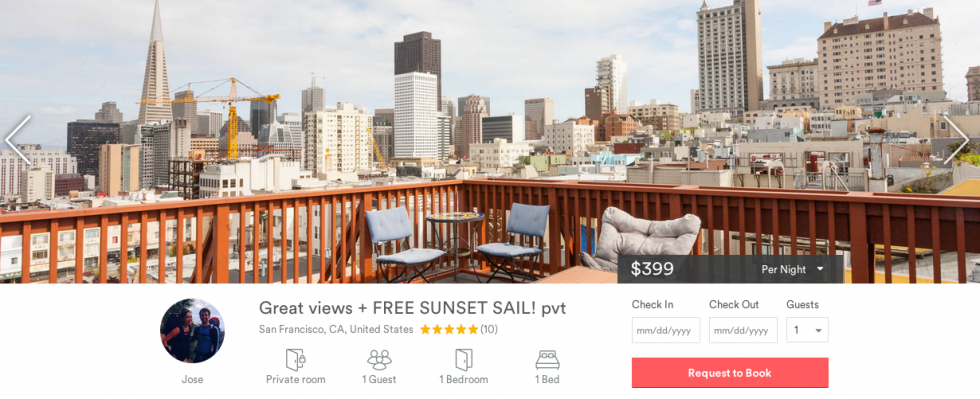 Couchsailors' Airbnb Listing