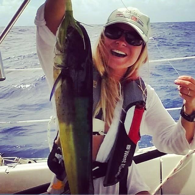 Cat loves fishing! Monday Never's first Mahi Mahi